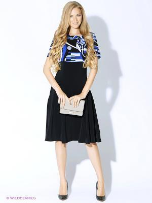 Платье ARBOR VITAE. Цвет: черный, синий