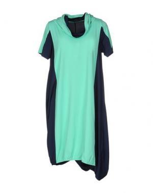 Короткое платье OBLIQUE CREATIONS. Цвет: светло-зеленый