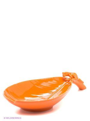 Фруктовница Тропические лягушки Pavone. Цвет: оранжевый