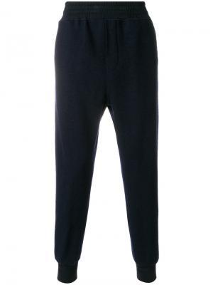 Спортивные брюки с присборенными щиколотками Wooyoungmi. Цвет: синий