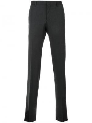 Строгие брюки Z Zegna. Цвет: серый