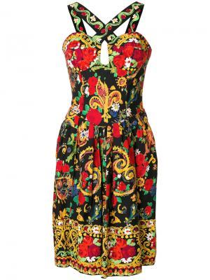 Платье с узором Christian Lacroix Vintage. Цвет: многоцветный