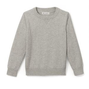 Пуловер с круглым вырезом, 3-12 лет La Redoute Collections. Цвет: бордовый,синий морской,синий,темно-серый меланж