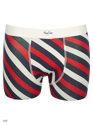 Трусы Happy Socks. Цвет: черный, белый, красный