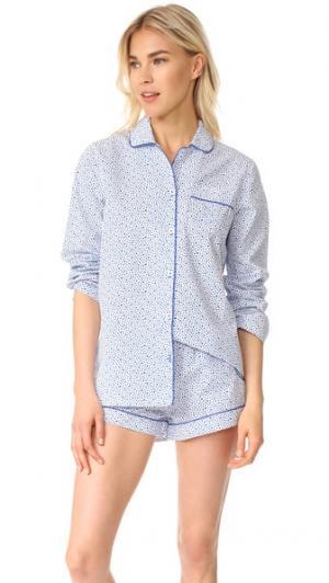 Пижама Josephine Three J NYC. Цвет: голубые хаотично расположенные звезды