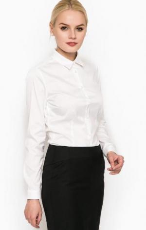 Классическая приталенная рубашка Cinque. Цвет: белый