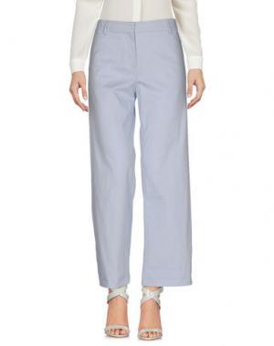 Повседневные брюки TRUE ROYAL. Цвет: небесно-голубой