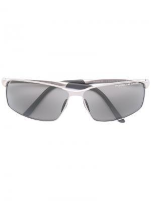 Квадратные солнцезащитные очки Porsche Design. Цвет: серый