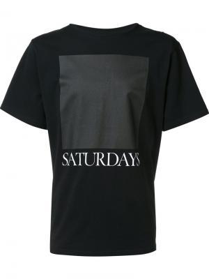 Футболка с принтом-логотипом Saturdays Surf Nyc. Цвет: чёрный