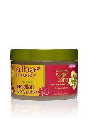 Натуральный Гавайский  скраб для тела с экстрактом сахарного тростника, 340 мл Alba Botanica. Цвет: прозрачный