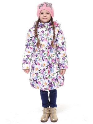 Куртка Luce della Vita. Цвет: белый, сиреневый, розовый