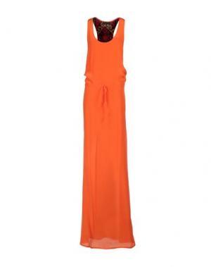 Длинное платье JO NO FUI. Цвет: оранжевый