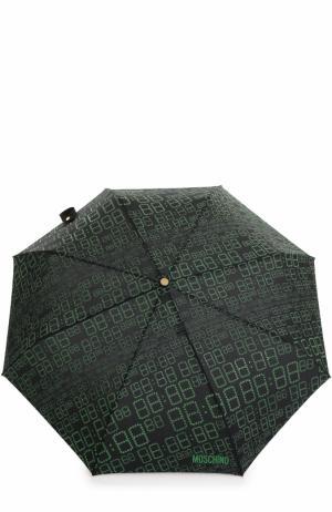 Складной зонт Moschino. Цвет: зеленый