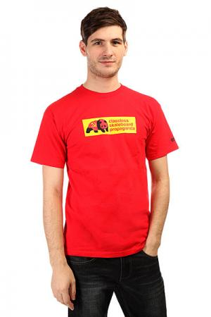 Футболка  Propaganda Red Enjoi. Цвет: красный