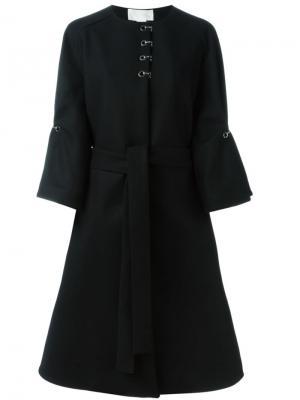 Пальто с поясом Antonio Berardi. Цвет: чёрный