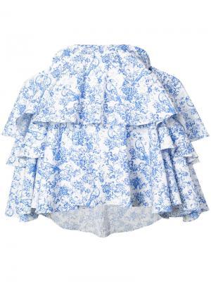 Блуза Carmen Caroline Constas. Цвет: синий