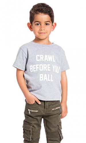 Рубашка crawl before you ball Private Party. Цвет: серый