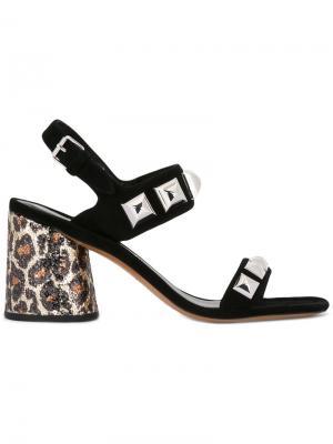Босоножки с леопардовым принтом на каблуке Marc Jacobs. Цвет: чёрный