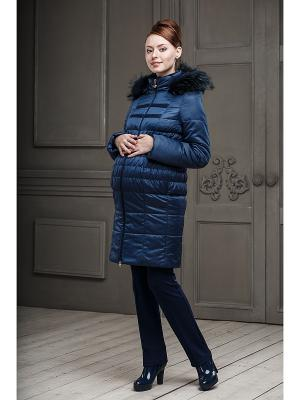 Пальто DIDILIYA. Цвет: синий