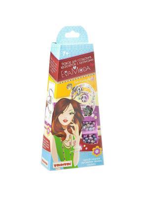 Набор для создания браслетов с бусинами Bondibon Eva Moda.. Цвет: темно-фиолетовый, розовый, сиреневый