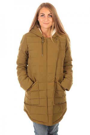 Куртка зимняя женская  Indi J Jckt Military Olive Roxy. Цвет: зеленый