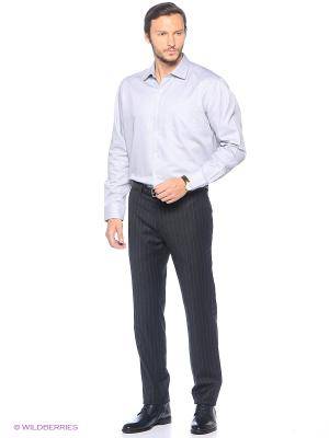Рубашка KARFLORENS. Цвет: серый, синий