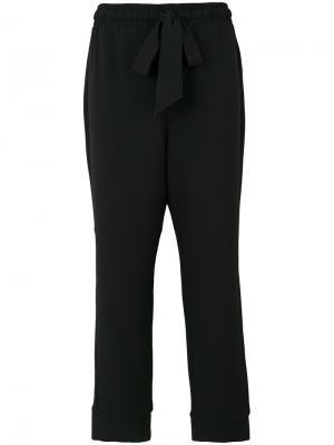 Укороченные брюки строгого кроя Ganni. Цвет: чёрный