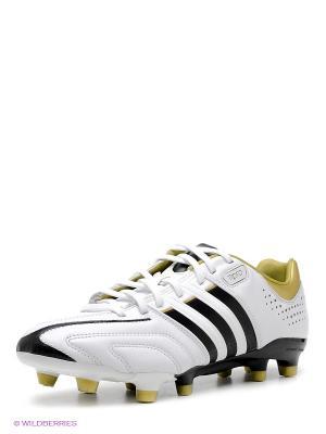 Бутсы Adidas. Цвет: белый, черный