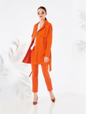 Пальто Mohito. Цвет: оранжевый