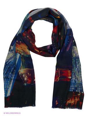 Платок Piero. Цвет: черный, оранжевый, синий