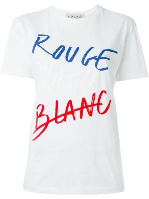 Футболка RBB Être Cécile. Цвет: белый