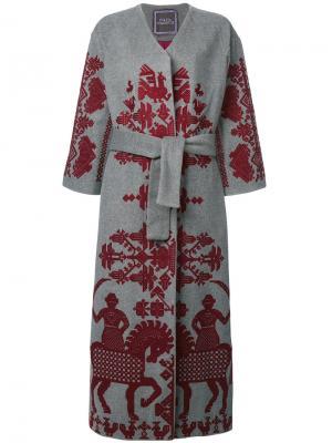 Пальто Cavalier Yuliya Magdych. Цвет: серый