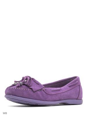 Мокасины El Tempo. Цвет: сиреневый, фиолетовый