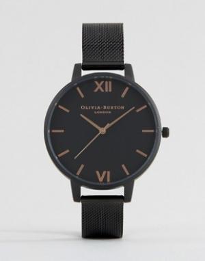 Olivia Burton Часы с ремешком в стиле сеточки After Dark OB15BD83. Цвет: черный