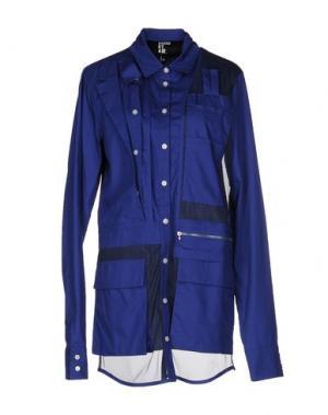 Pубашка HBA HOOD BY AIR. Цвет: темно-синий