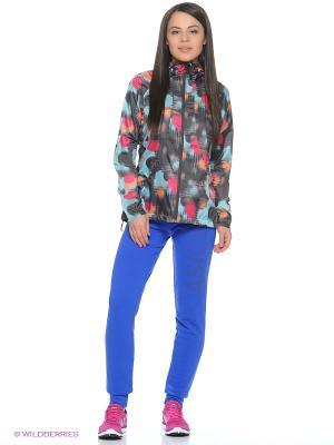 Куртка fuzeX PACKABLE JACKET ASICS. Цвет: бирюзовый, черный