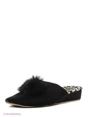 Тапочки женские Dream Feet. Цвет: черный