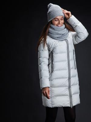 Куртка Clasna. Цвет: светло-серый
