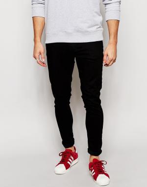 Brooklyn Supply Co. Черные однотонные супероблегающие джинсы Co. Цвет: черный