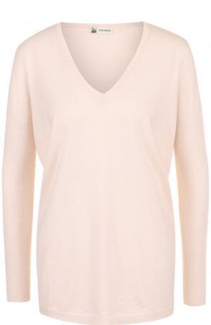 Пуловер свободного кроя из смеси кашемира и шелка Colombo. Цвет: розовый