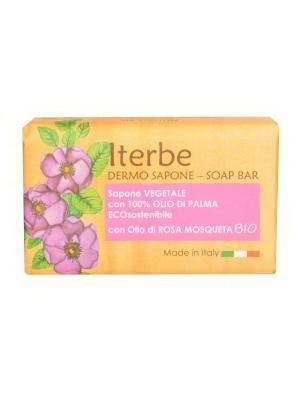 Натуральное косметическое мыло с органическим маслом шиповника, 100 гр. Iteritalia. Цвет: белый