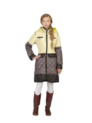 Пальто MES AMI. Цвет: светло-желтый