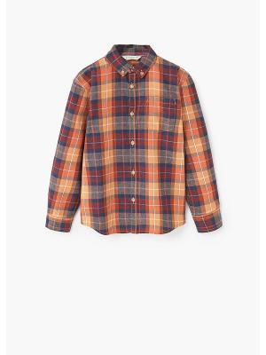 Рубашка - BASICO Mango kids. Цвет: оранжевый