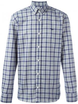Клетчатая рубашка с воротником на пуговицах Maison Kitsuné. Цвет: синий