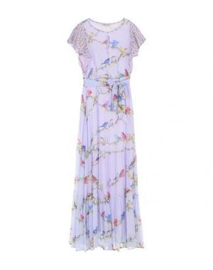 Длинное платье ANGELO MARANI. Цвет: сиреневый