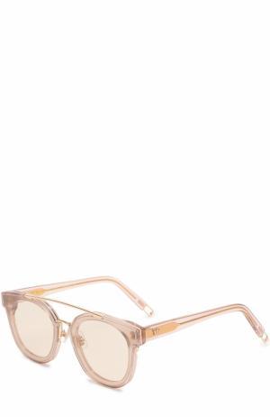 Солнцезащитные очки Gentle Monster. Цвет: прозрачный