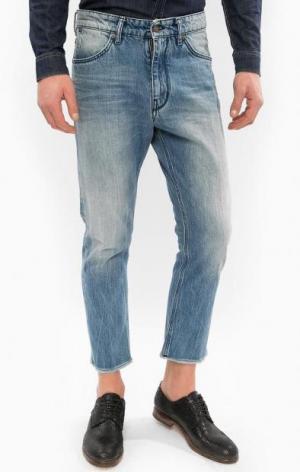 Синие зауженные джинсы с низкой посадкой DRYKORN. Цвет: синий