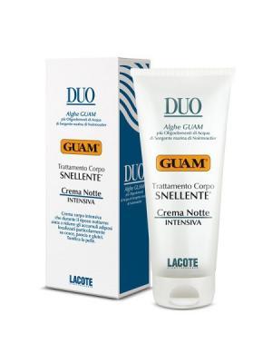Линия DUO Крем против жировых отложений ночной интенсивный 200 мл GUAM. Цвет: белый