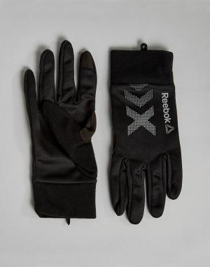 Reebok Черные зимние перчатки Training BP7008. Цвет: черный