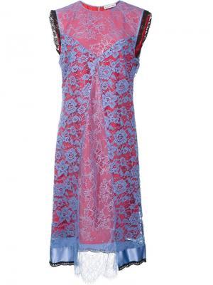 Платье Harry Altuzarra. Цвет: синий